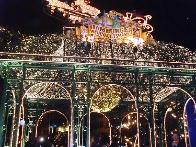 Hamburgo kalėdinė mugė.