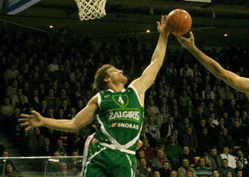 """Slovėnas Kauno """"Žalgiriui"""" atstovavo 2007/08 metų sezone."""