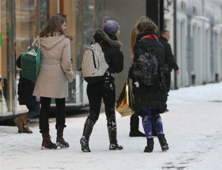 Snieguotos paauglės