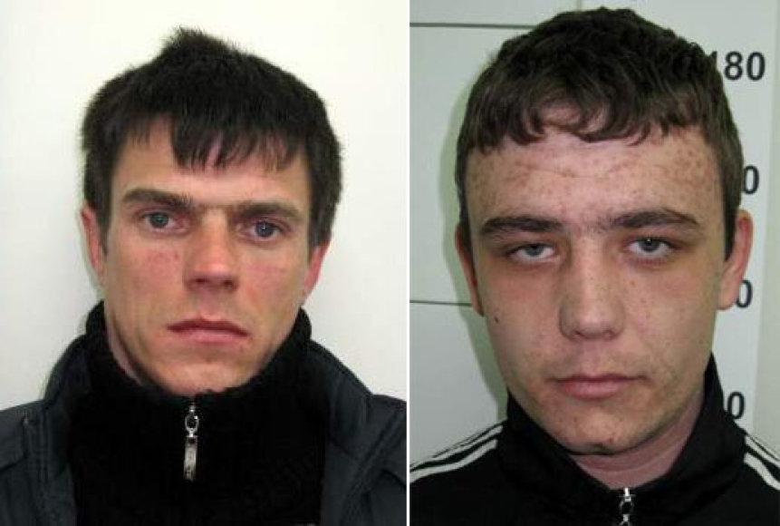 Jau ne kartą teistas D.Fiodorovas (kairėje) sulaikytas dviems mėnesiams, tuo tarpu pirmą kartą su teisėsauga reikalų turintis M.Korolkovas – 10 dienų.