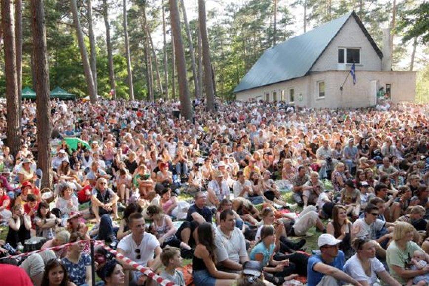 Festivalio žiūrovai.