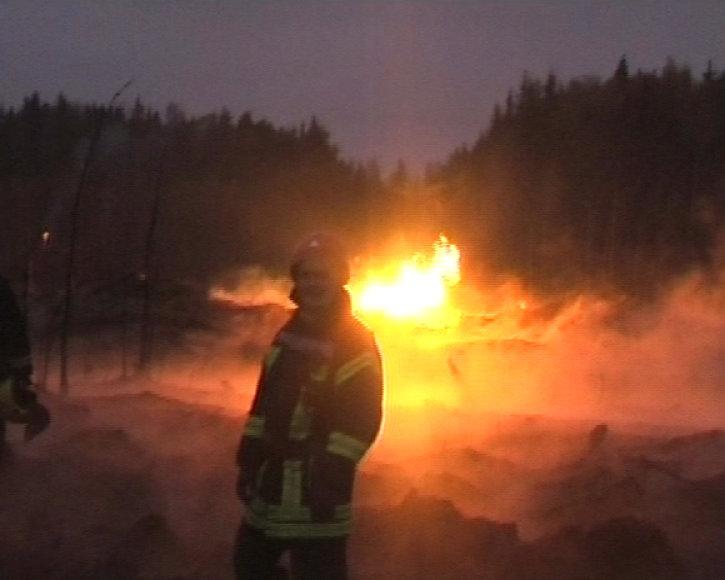 Milžiniškas gaisras: Širvintų rajone sprogo dujotiekis