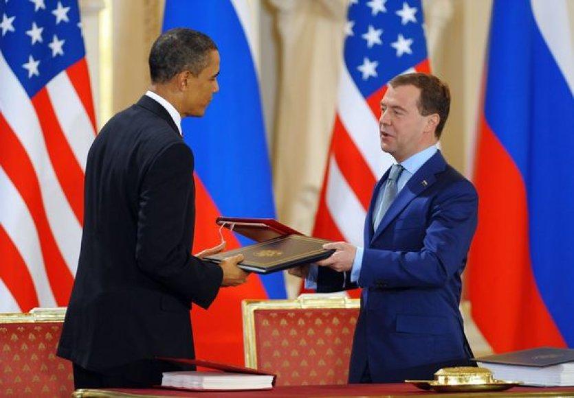 B.Obama ir D.Medvedevas