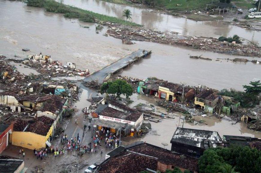 Potvyniai Brazilijoje