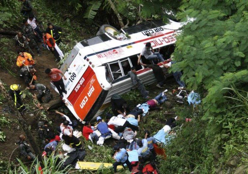 Keleivinio autobuso avarija