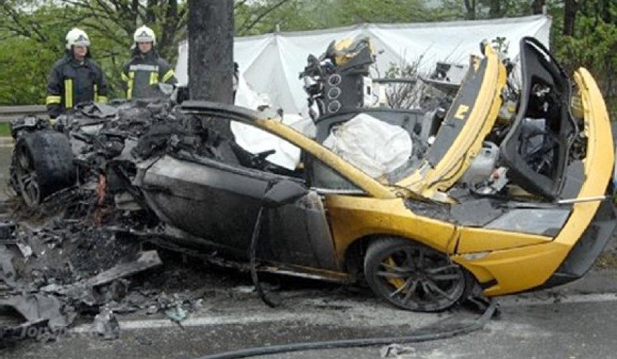 """""""Lamborghini Gallardo"""" avarija"""