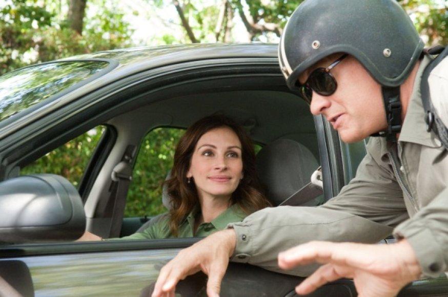 """Julia Roberts ir Tomas Hanksas romantinėje komedijoje """"Laris Kraunas"""""""