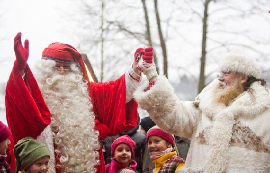 Joulupukį pasitiko Senelis Kalėda