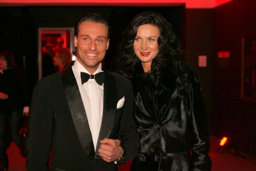 Andrius Kandelis su žmona Reda