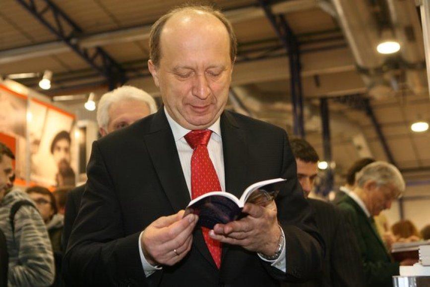 Vilniaus Knygų mugėjė lankėsi Ministras pirminkas Andrius Kubilius