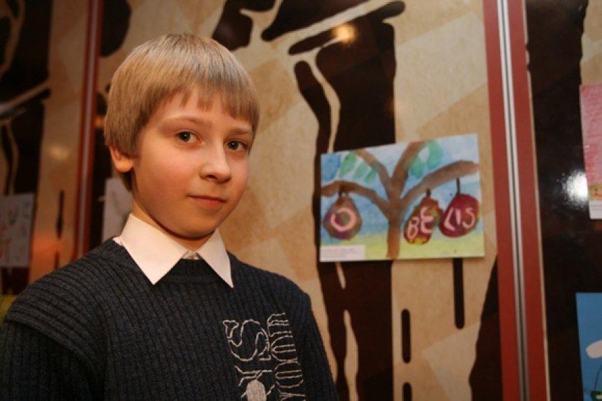 Konkurso laimėtojas Einius Bubinas