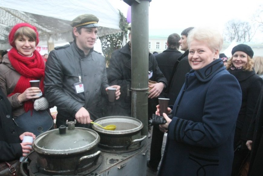 Dalia Grybauskaitė lankėsi mugėje