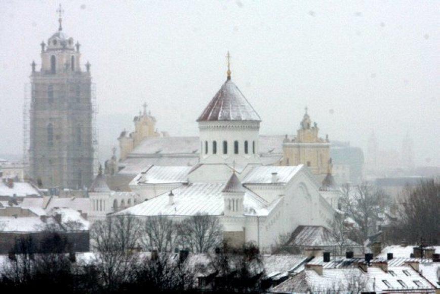 Snieginga kovo 9 d. Villniuje