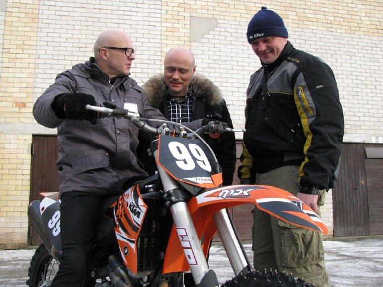 (Iš kairės): T.Rudokas, R.Boravskis ir D.Pozniakas