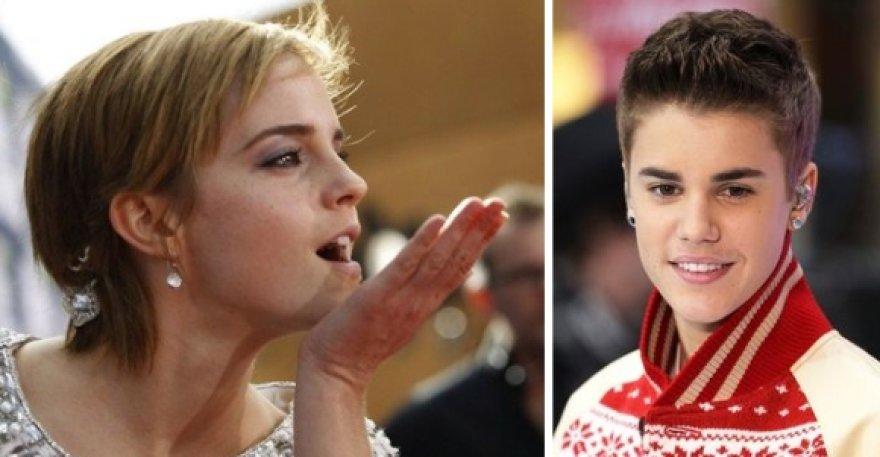 Emma Watson ir Justinas Bieberis