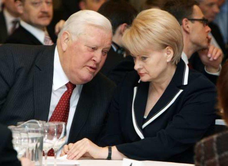 A.Brazauskas ir D.Grybauskaitė