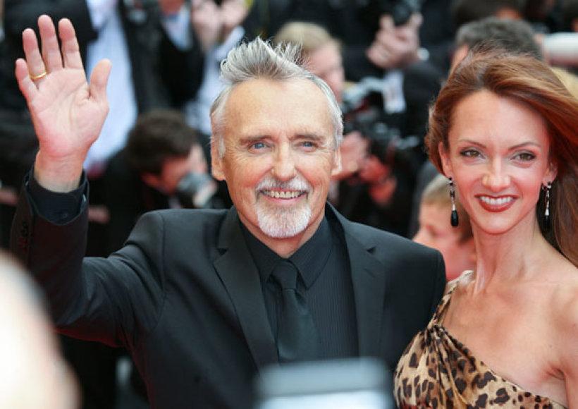 Dennisas Hopperis su žmona