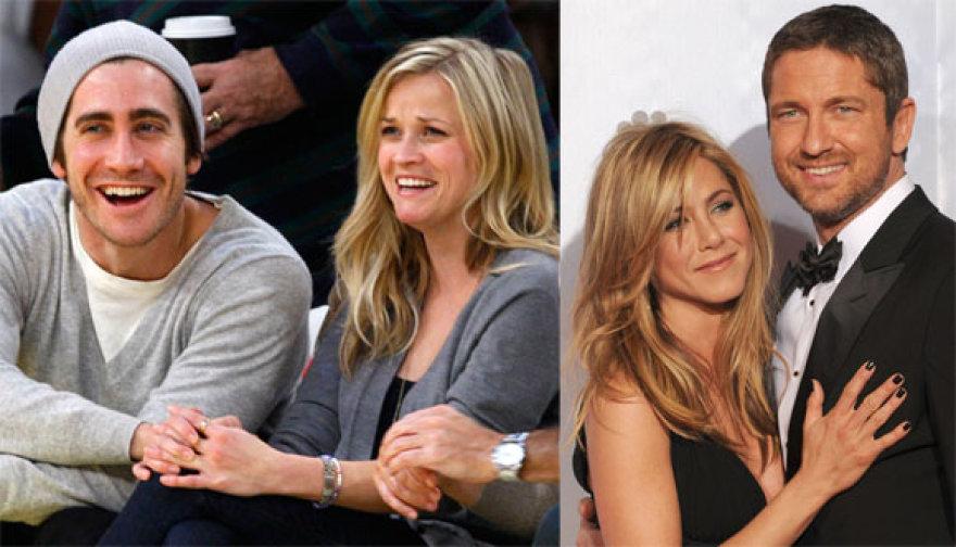 Jake'as Gyllenhaalas ir Reese Witherspoon, Jennifer Aniston ir Gerardas Butleris