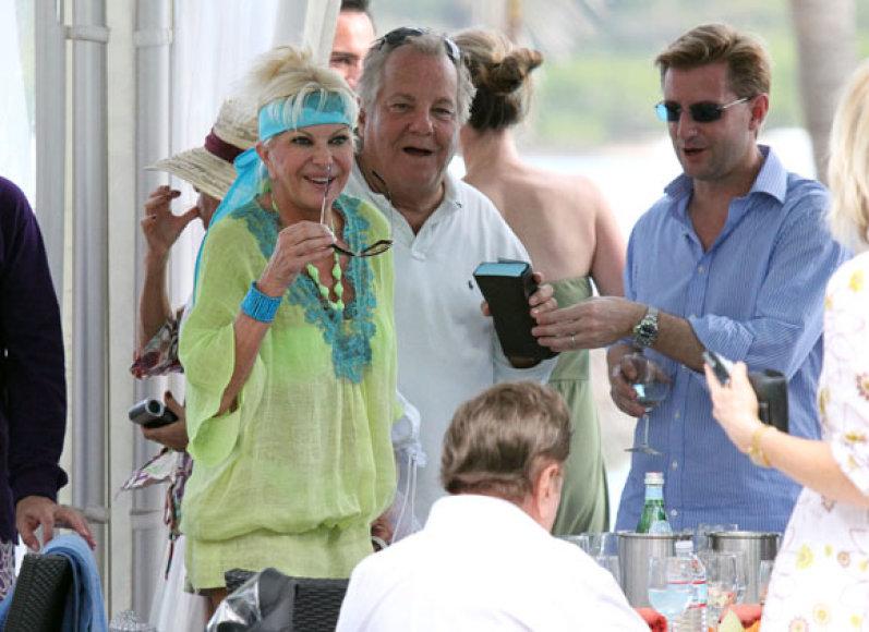 Ivana Trump ir Massimo Gargia