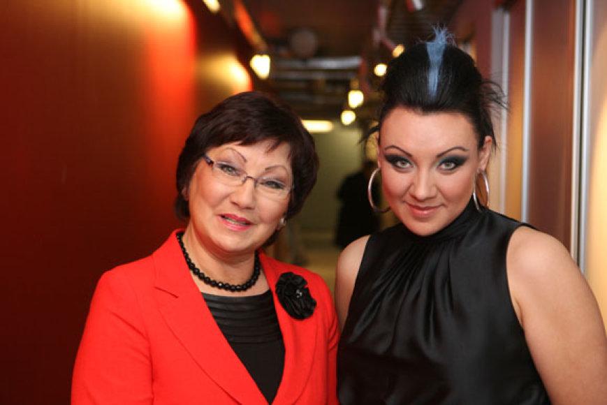 Ona Valiukevičiūtė su dukra Giedre