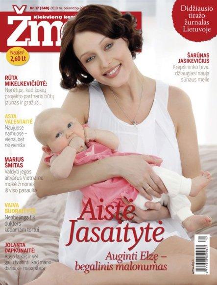 Aistė Jasaitytė-Čeburiak su dukra Elze
