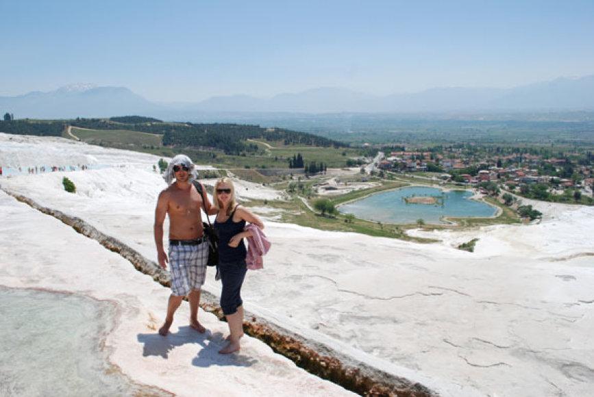 Donatas Baumila-Dūnis su žmona Daine
