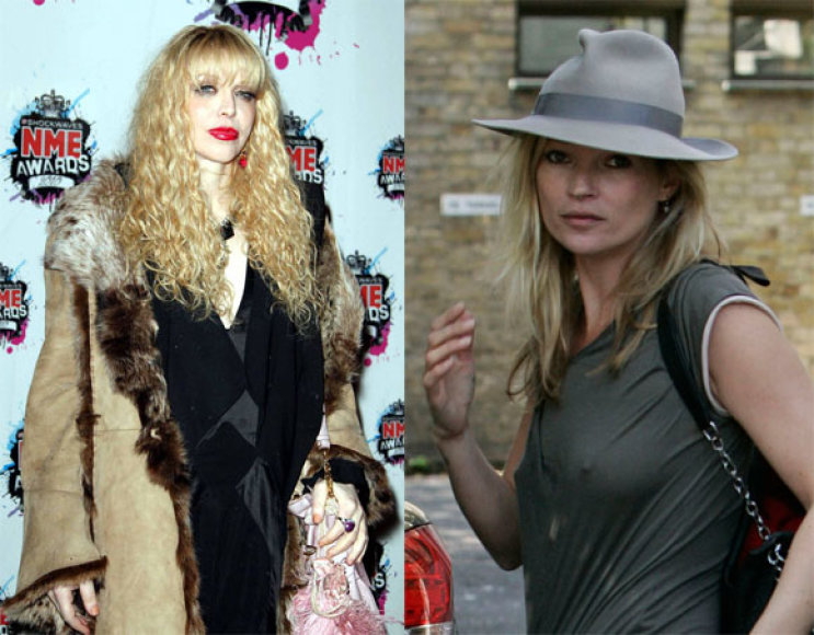 Courtney Love ir Kate Moss