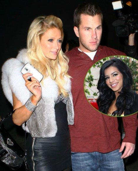 Paris Hilton su buvusiuoju draugu Dougu Reinhardtu ir Rima Fakih