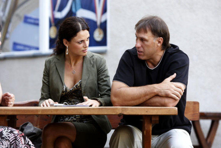 Šarūnas Marčiulionis ir Laura Mikelionytė