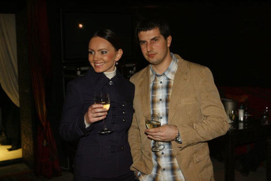 Neringa Mažeikienė su vyru