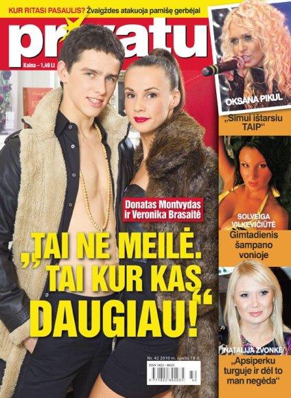 Donatas Montvydas su drauge Veronika