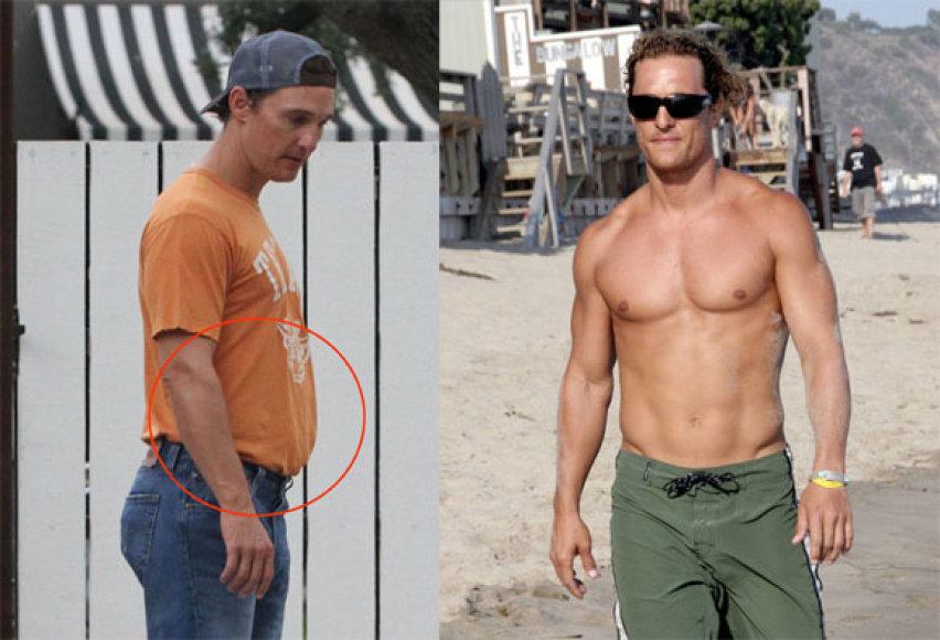 Matthew McConaughey dabar ir anksčiau
