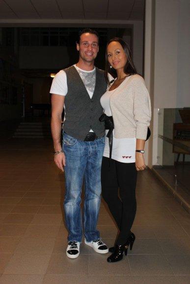 Andrius Kandelis su nauja šokių partnere