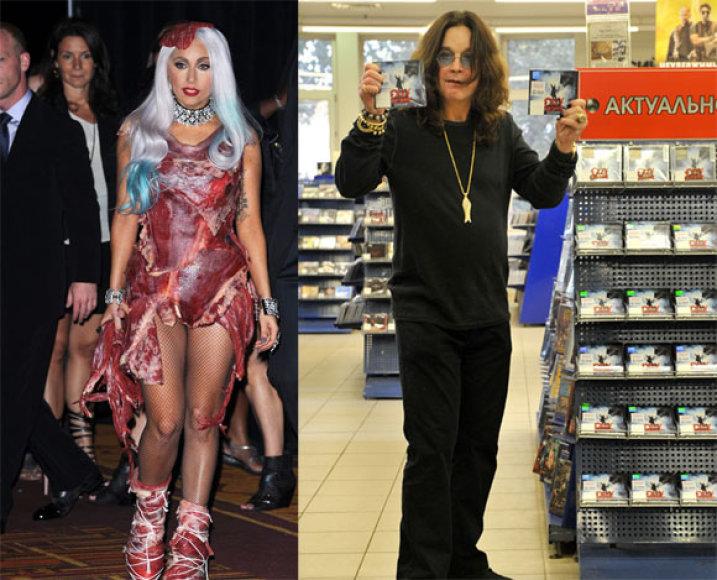 Lady Gaga ir Ozzy Osbourne'as
