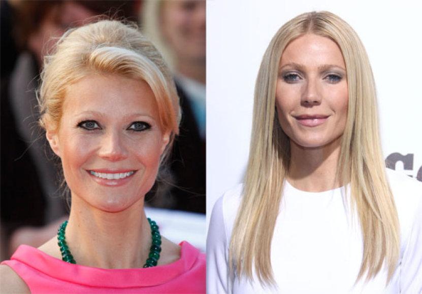 Gwyneth Paltrow prieš 5 mėn. ir dabar