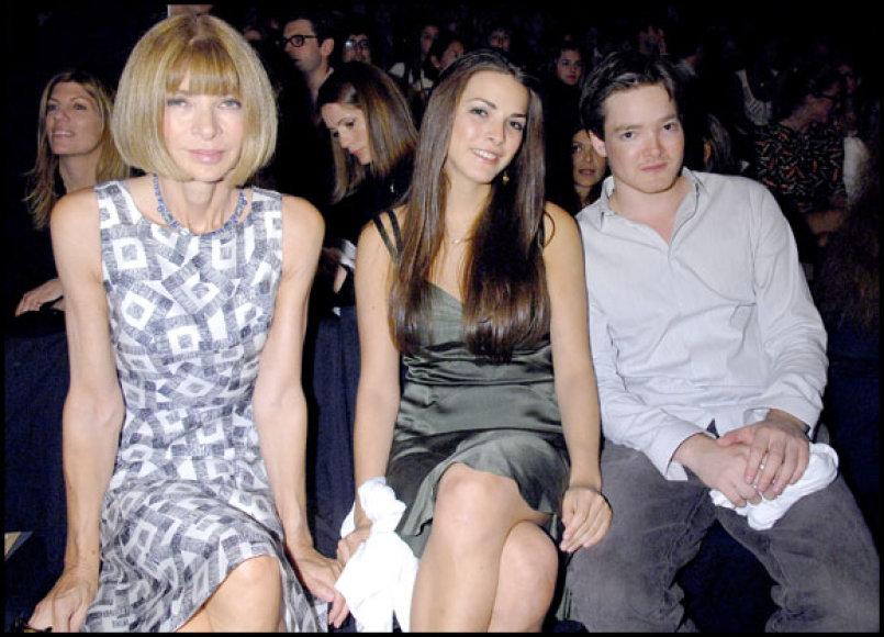 Annai Wintour svarbu, kad jos dukra Katherine ir sūnus Charlesas būtų laimingi.