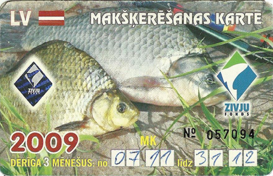 Šiuo metu Latvijoje jau galima žvejoti visuose vandens telkiniuose, įsigijus vieningą žūklės licenciją