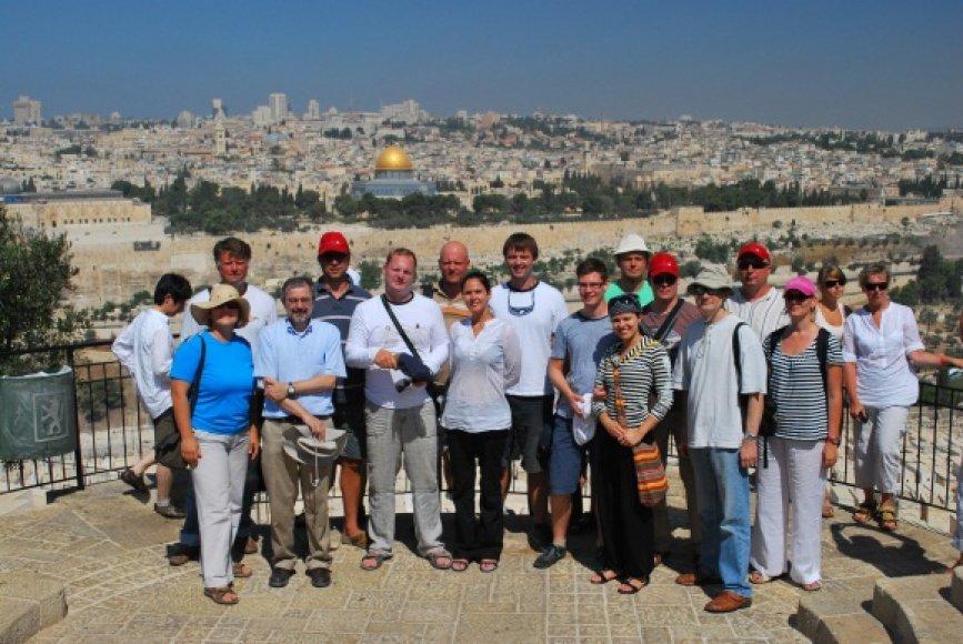 """Jeruzalė buvo galutinis projekto """"Gold of Lithuania"""" kelionės tikslas."""