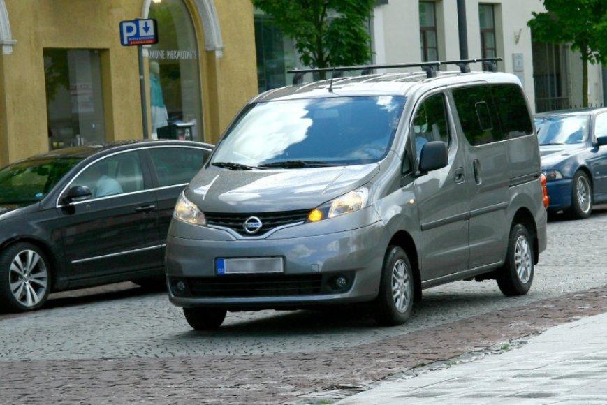 """""""Nissan NV200"""" pastebėtas Vilniaus gatvėse"""