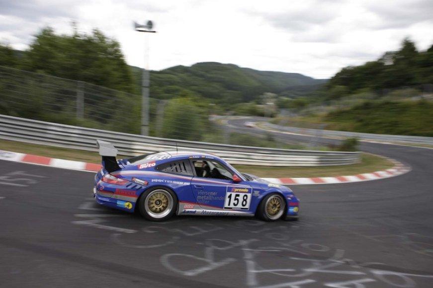 """Andžejus Dzikevičius Niurburgringe prie """"Porsche 911 GT3 Cup 997"""" vairo"""