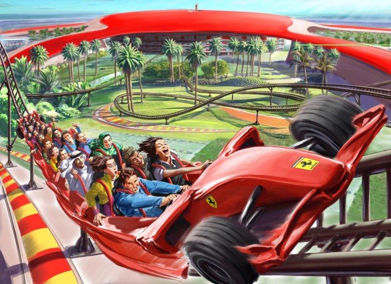 """""""Ferrari World"""" pramogų parkas"""