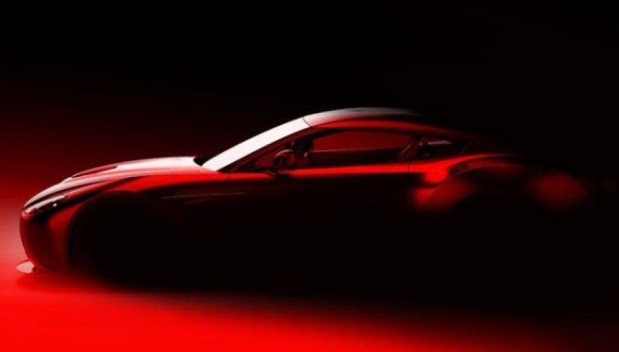 """""""Zagato"""" ir """"Aston Martin"""" automobilio eskizas"""