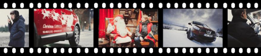 Kelionė pas Kalėdų Senelį – vaizdo siužete