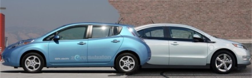 """Nissan Leaf"" ir ""Chevrolet Volt"""