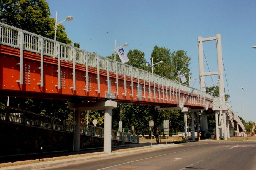 Ilgiausio Lietuvoje pėsčiųjų tilto atidarymas