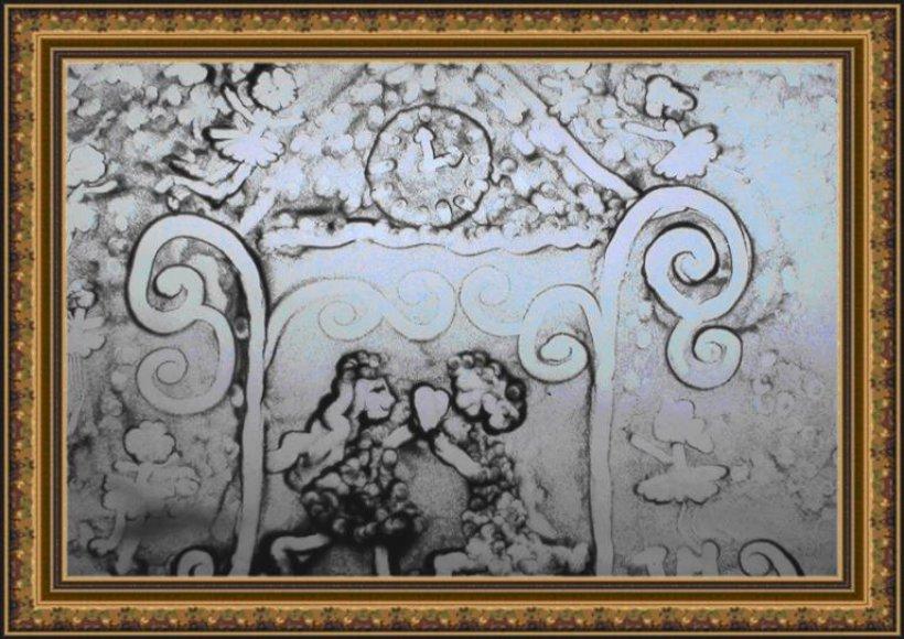 """""""Muzikinė žiemos pasaka"""" - smėlio piešinys"""
