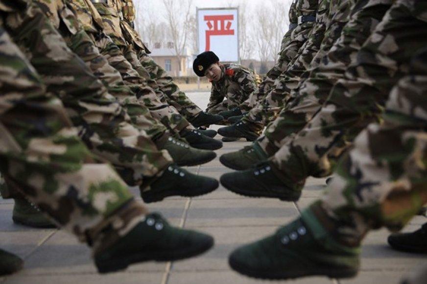 Treniruotės Kinijos armijoje