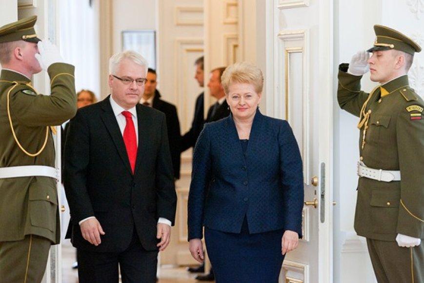 Ivo Josipovičius ir Dalia Grybauskaitė