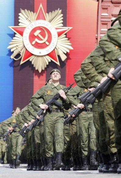 Rusijos kariai Raudonojoje aikštėje