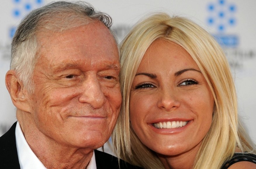 Hugh Hefneris ir Crystal Harris